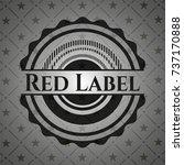 red label realistic black emblem | Shutterstock .eps vector #737170888