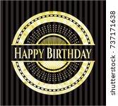 happy birthday shiny badge | Shutterstock .eps vector #737171638