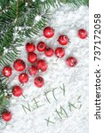 Small photo of X-mas card. Text made by for needles