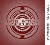intellectual property badge... | Shutterstock .eps vector #737173378