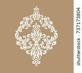 premium gold vintage baroque...   Shutterstock .eps vector #737173804