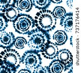 vector tie dye shibori print.... | Shutterstock .eps vector #737176414
