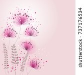 vector background with pink... | Shutterstock .eps vector #737176534