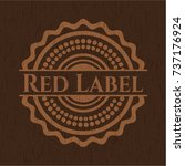 red label realistic wooden... | Shutterstock .eps vector #737176924