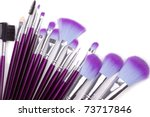 set of facial make up brushes... | Shutterstock . vector #73717846