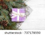 christmas background for... | Shutterstock . vector #737178550