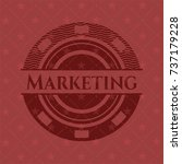 marketing badge with red... | Shutterstock .eps vector #737179228