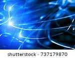 abstract xmas blue magic... | Shutterstock . vector #737179870