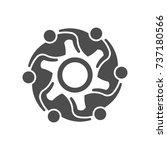 gear teamwork people in meeting ...   Shutterstock .eps vector #737180566