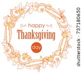thanksgiving day poster with... | Shutterstock .eps vector #737180650