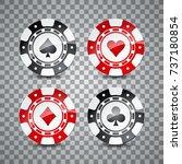 vector illustration on a casino ... | Shutterstock .eps vector #737180854
