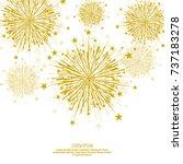 vector firework design on white ... | Shutterstock .eps vector #737183278