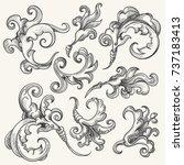 vintage baroque victorian... | Shutterstock . vector #737183413