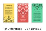 vintage style flyer set... | Shutterstock .eps vector #737184883