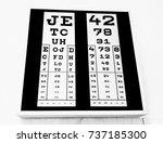 check your eyes reading through ... | Shutterstock . vector #737185300