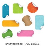 colorful grunge stickers | Shutterstock .eps vector #73718611