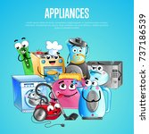 house appliances banner with... | Shutterstock .eps vector #737186539