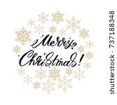 merry christmas lettering... | Shutterstock .eps vector #737188348