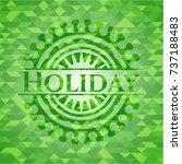 holiday green mosaic emblem | Shutterstock .eps vector #737188483