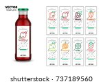 fresh juice realistic glass... | Shutterstock .eps vector #737189560