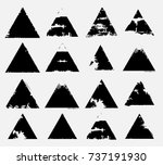 stamps collection. grunge... | Shutterstock .eps vector #737191930