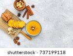 Bowl With Sweet Potato Soup An...