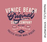 venice beach original surf... | Shutterstock .eps vector #737199496