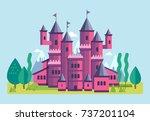 vector illustration of a cute... | Shutterstock .eps vector #737201104