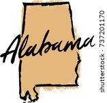 hand drawn alabama state design | Shutterstock .eps vector #737201170