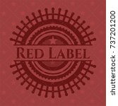 red label realistic red emblem | Shutterstock .eps vector #737201200