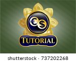 gold badge or emblem with... | Shutterstock .eps vector #737202268