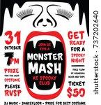 monster mash hand drawn... | Shutterstock .eps vector #737202640
