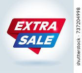 extra sale arrow tag sign. | Shutterstock .eps vector #737204998