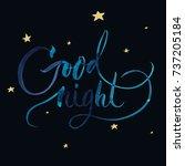 good night greeting card ... | Shutterstock .eps vector #737205184