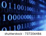 digital technologies. binary...   Shutterstock . vector #737206486