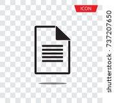 document file vector icon... | Shutterstock .eps vector #737207650