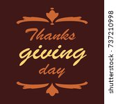 thanksgiving day for labels ... | Shutterstock .eps vector #737210998