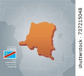 congo 3d map with information... | Shutterstock .eps vector #737215048