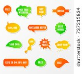 vector stickers  speech bubbles ... | Shutterstock .eps vector #737215834