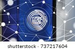 ico   initial coin offering.... | Shutterstock .eps vector #737217604
