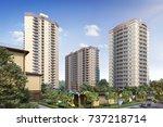 modern residential complex for... | Shutterstock . vector #737218714