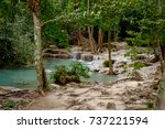 the river in the jungle with...   Shutterstock . vector #737221594
