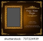 thailand royal gold frame on... | Shutterstock .eps vector #737224939
