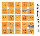 emoticon cartoon icons set...   Shutterstock .eps vector #737225263