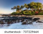 lava falls of pa'ako cove in... | Shutterstock . vector #737229664