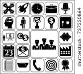 set of 22 business icons ... | Shutterstock .eps vector #737230864