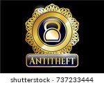 golden emblem or badge with... | Shutterstock .eps vector #737233444