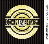 complementary gold badge or... | Shutterstock .eps vector #737234638