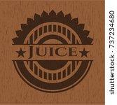 juice badge with wooden... | Shutterstock .eps vector #737234680