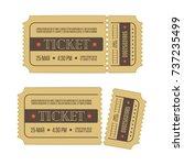 retro cinema ticket template ... | Shutterstock .eps vector #737235499